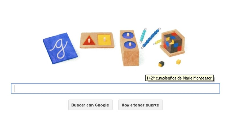 maria montesori google doodle internet