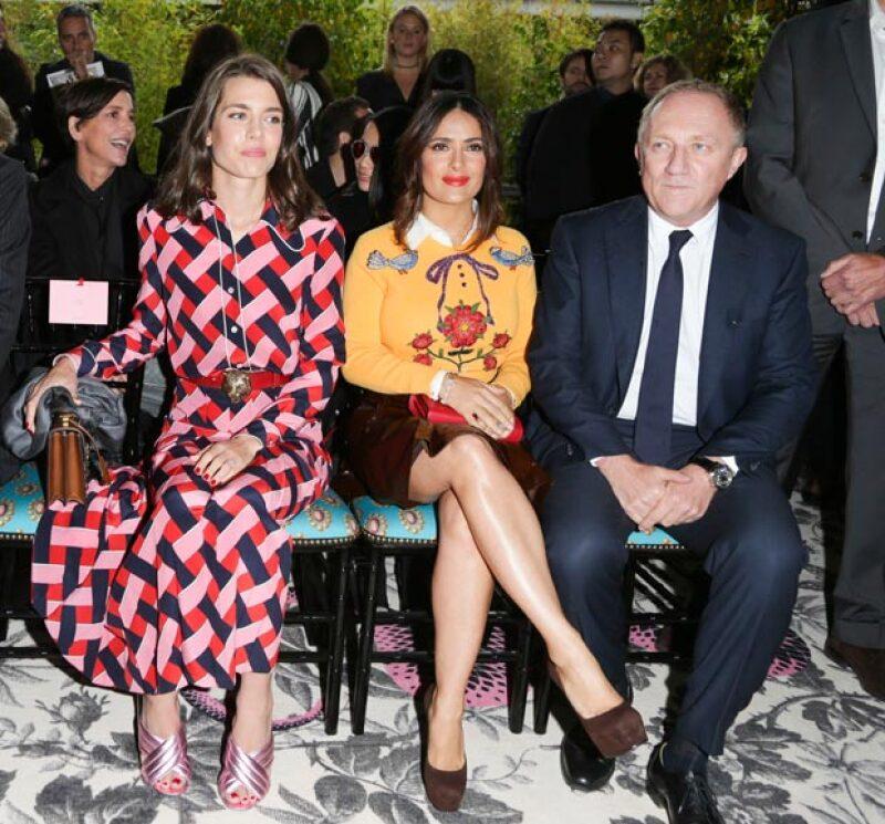 La actriz y la royal acapararon la atención durante el desfile de Gucci en el Fashion Week de Milán.