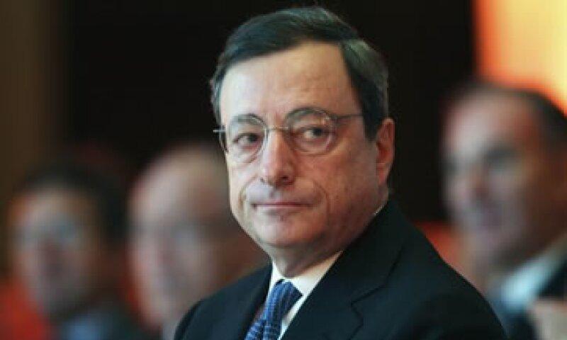Draghi dijo que sus comentarios no debían interpretarse en términos de futuras decisiones políticas. (Foto: AP)