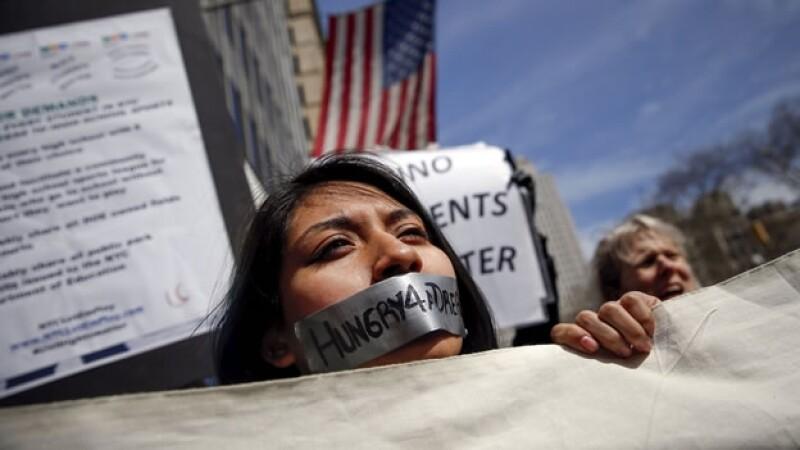 Una de las estudiantes inmigrantes que buscan que se apruebe una ley para apoyar a jóvenes inmigrantes en Nueva York