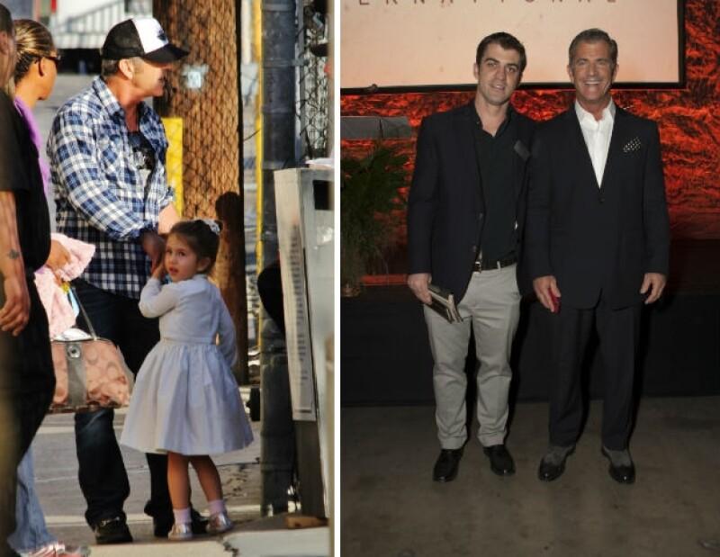 Lucía es la hija menor de Mel Gibson. A la derecha, Will Gibson y Mel durante una gala.