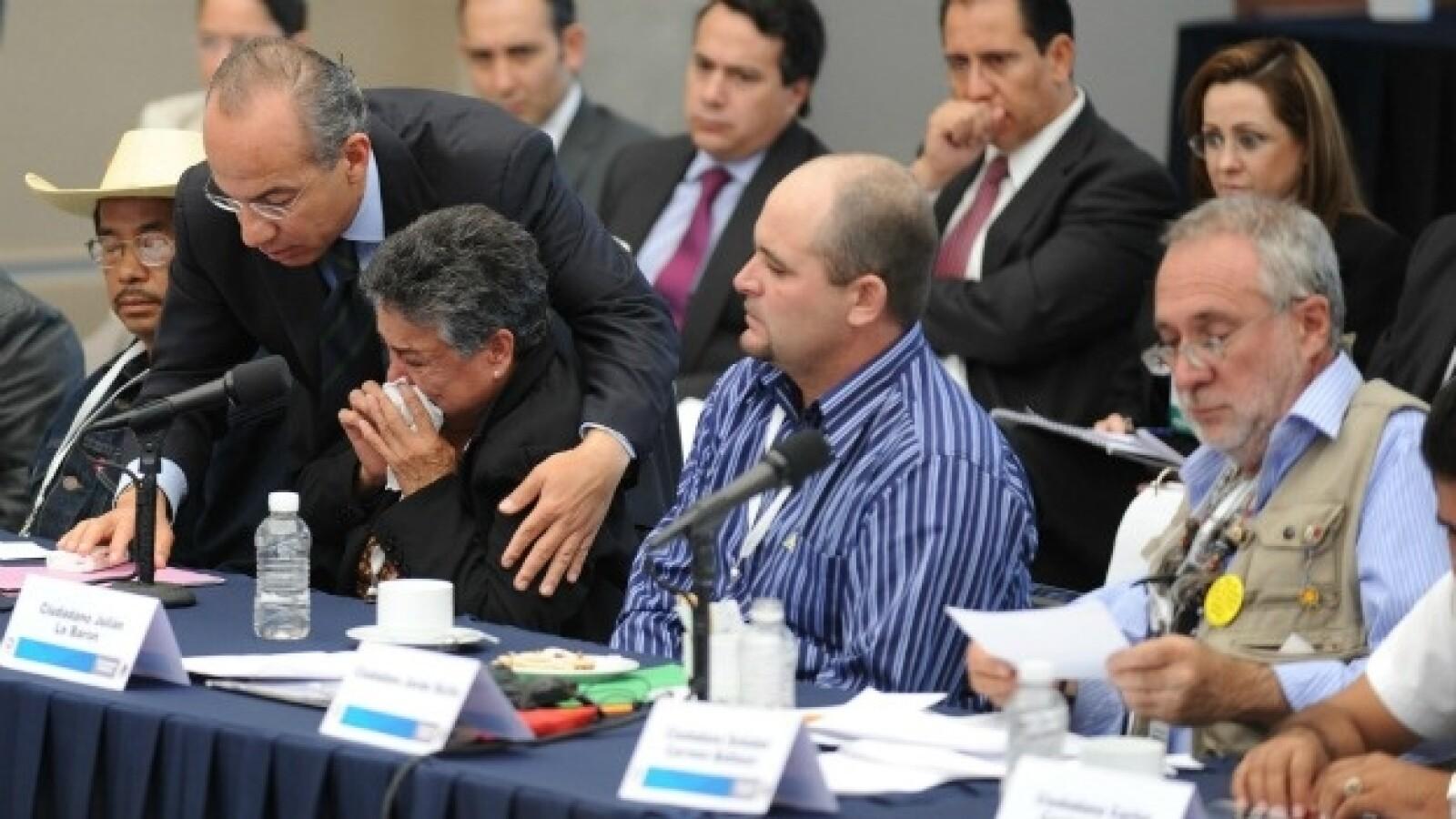 Javier Sicilia Felipe Calderon Julian Lebaron