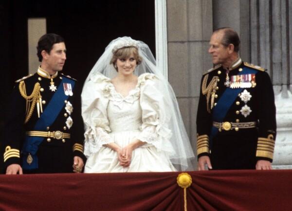 Príncipe Carlos, princesa Diana y el duque de Edimburgo
