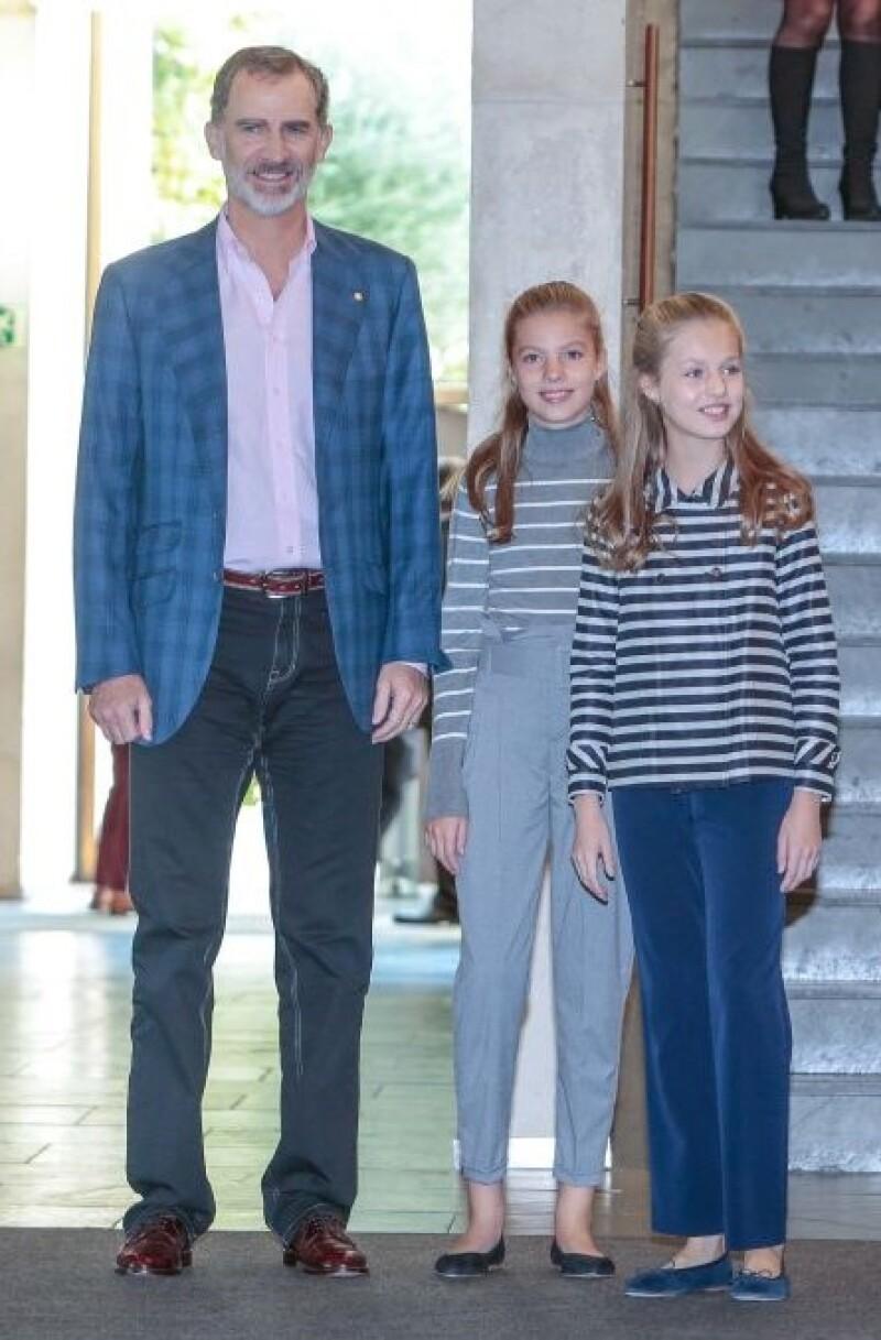 Rey Felipe, infanta Sofía y la princesa Leonor