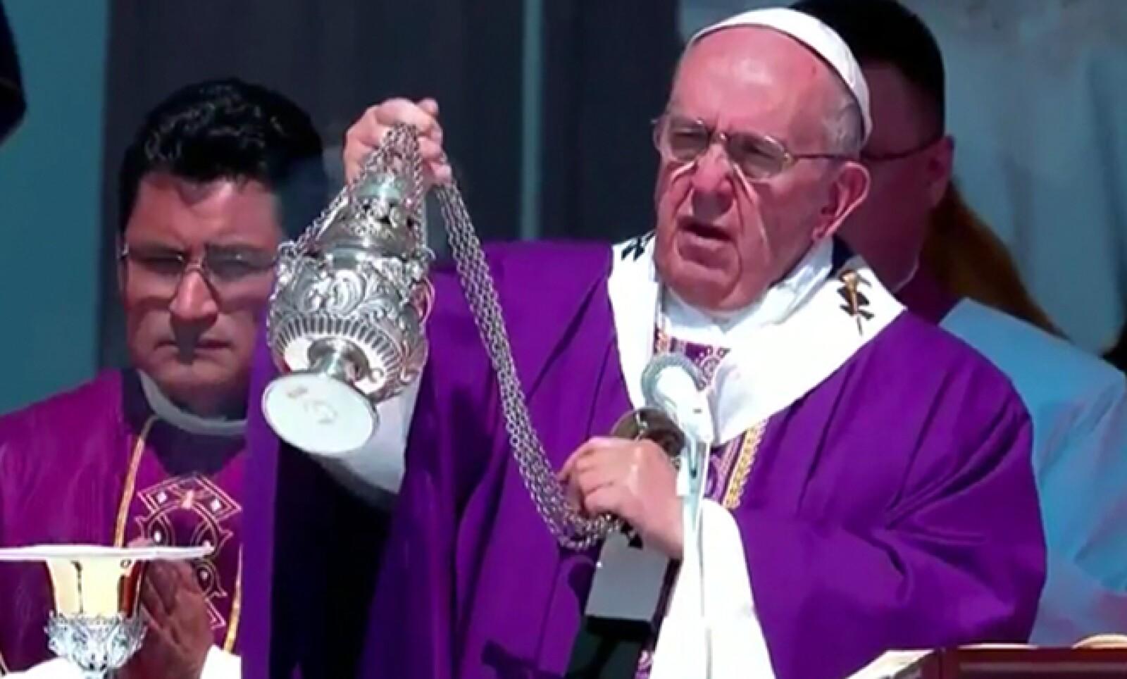 Este fue de los primeros mensajes del papa Francisco en Ecatepec.