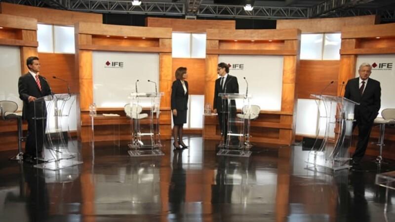 El debate entre los candidatos presidenciales