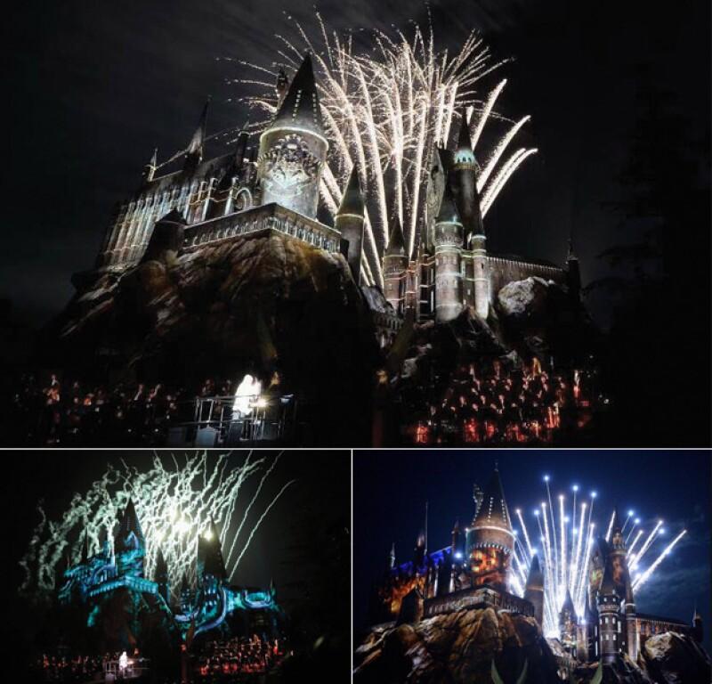El castillo se llenó de fuegos artificiales.
