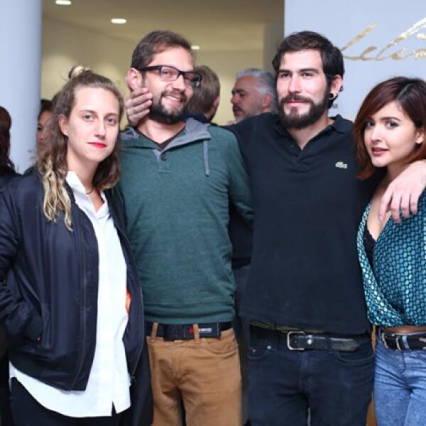 Ana González, José Barberena, Moises Dujovich y Vania Caraza