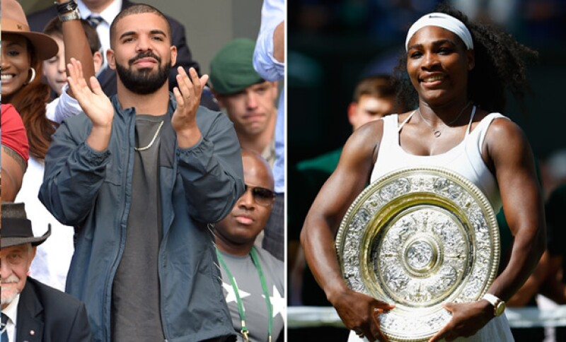 Anteriormente Drake asistió a Wimbledon para apoyar a Serena, quien resultó ser la ganadora definitiva.