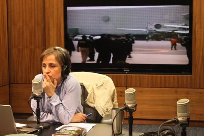 Aristegui cuetionó al dirigente del PRI-DF sobre red de prostitución.