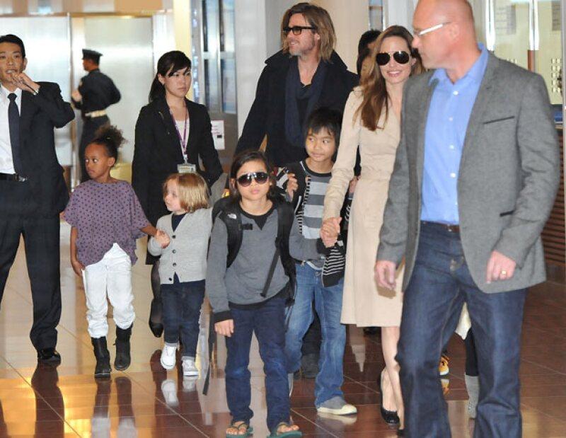 Al parecer Angelina Jolie lo ha hecho bien, pues ha dejado claro a sus hijos que ellos son una familia como cualquier otra.