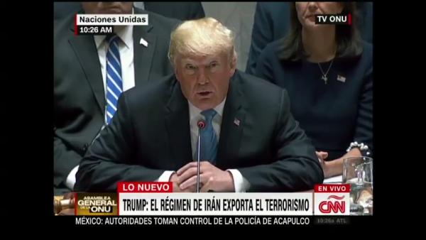 Trump lanza acusaciones a Irán y China en el Consejo de Seguridad de la ONU