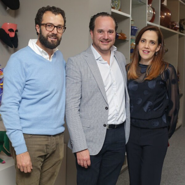 Eduardo Canales,Edmundo Delgado y Claudia Marcano