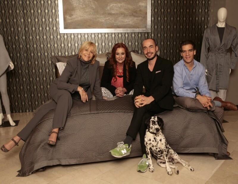 Los diseñadores participantes: Laura Cuevas, Mónica Edwabne, Rodrigo Alegre y Carlos Acosta.