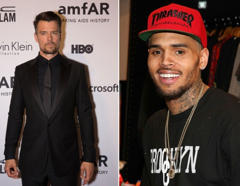 Chris Brown y Josh Duhamel