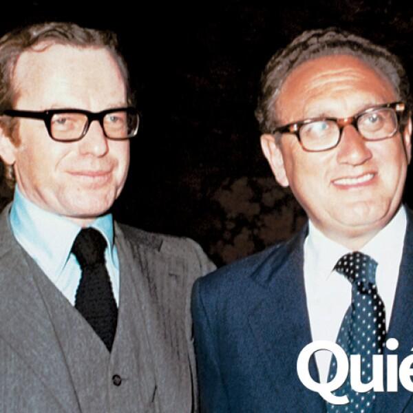 Con el político Henry Kissinger.