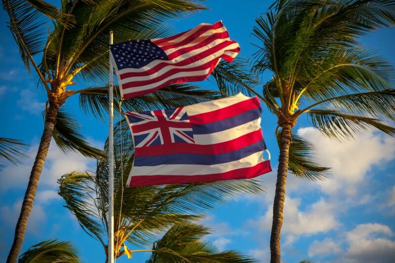 La bandera de Hawaii