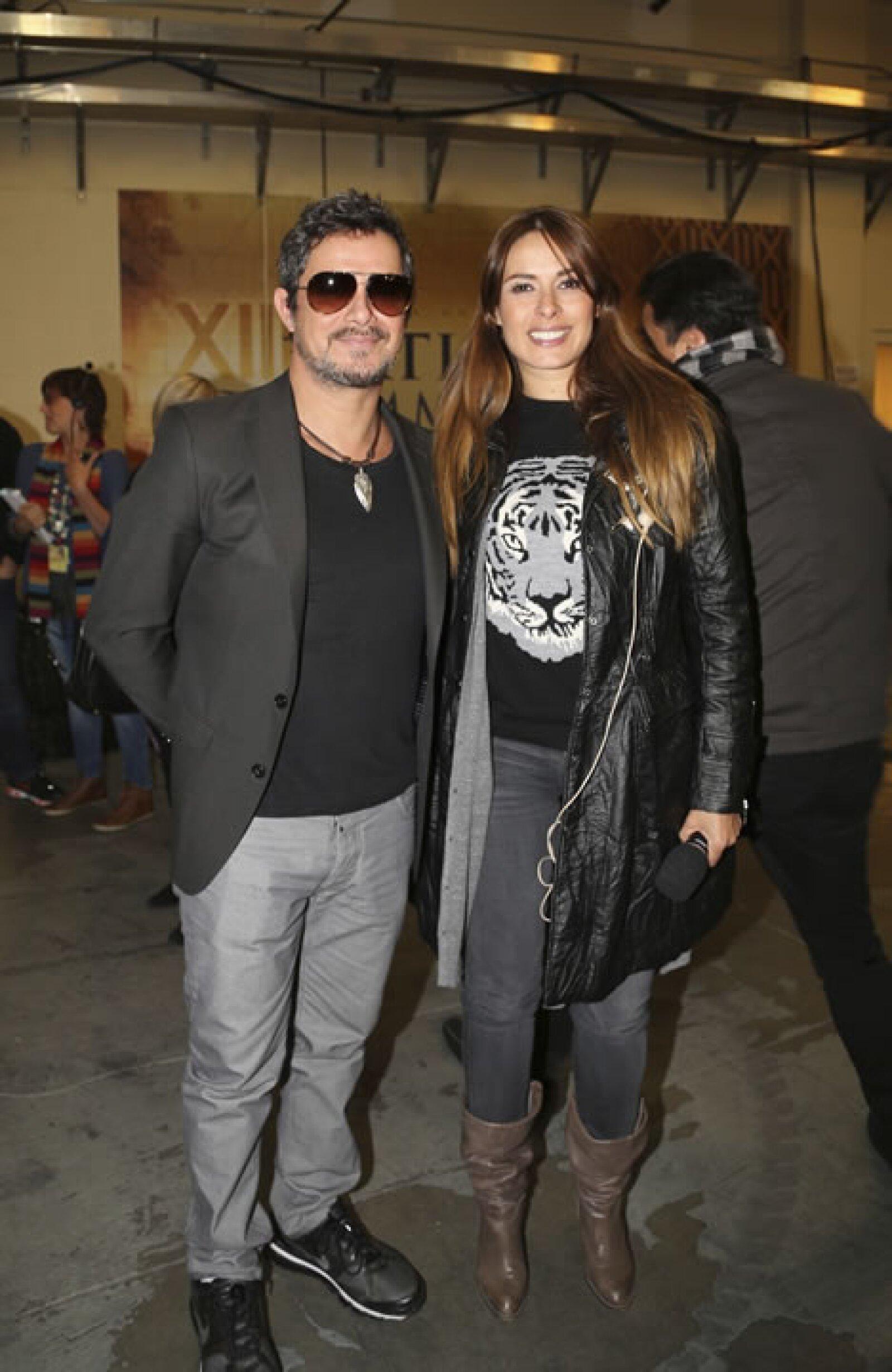 Aquí con Alejandro Sanz.