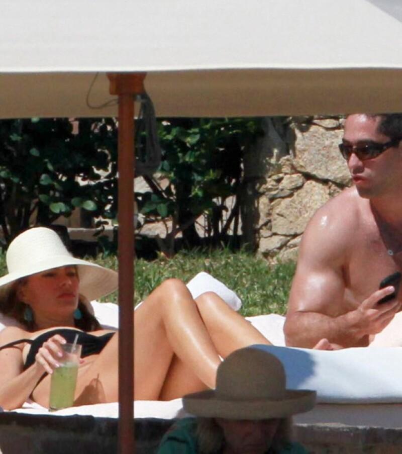 Sofía y Nick estuvieron largo rato bajo el sol de Los Cabos.
