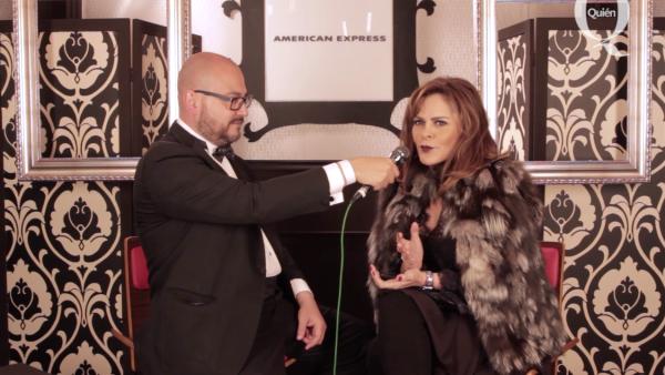 Entrevista a Mara Patricia Castañeda en booth de American Express #Quien50