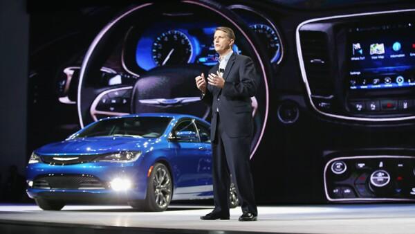 Alistair Gardner. presidente y CEO de Chrysler en su participaci�n en el AutoShow 2014