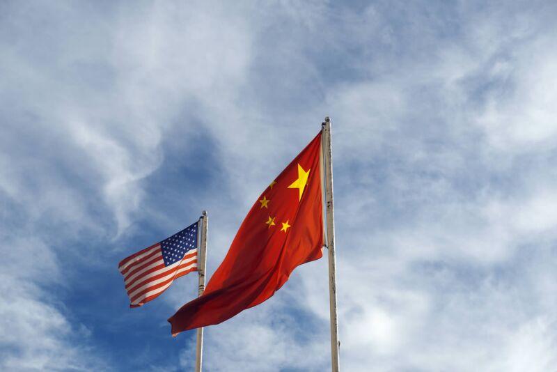 china estados unidos bandera