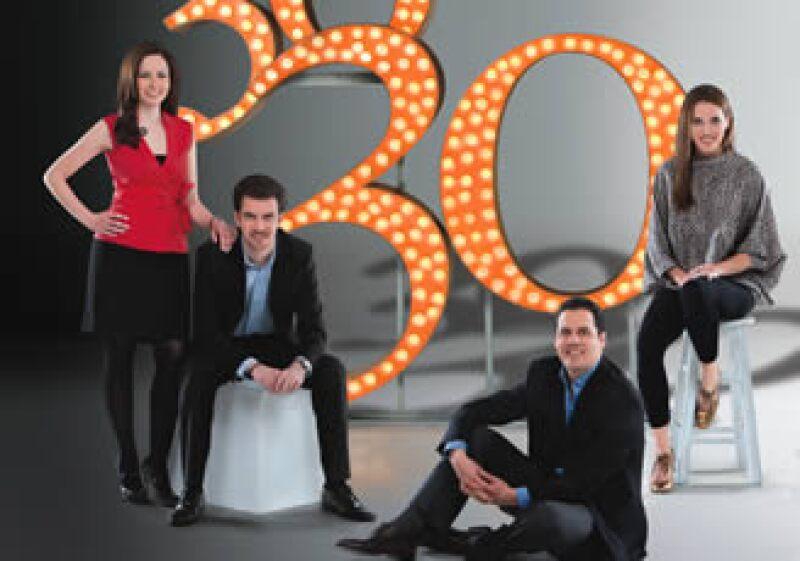 Gloria Nieto, de Procter & Gamble; Alejandro Migoya Iriarte, de GlobalMap; Carlos Mena Labarthe, de Cofeco, y Tatiana Bilbao, de Tatiana Bilbao SC. (Foto: Duilio Rodríguez)