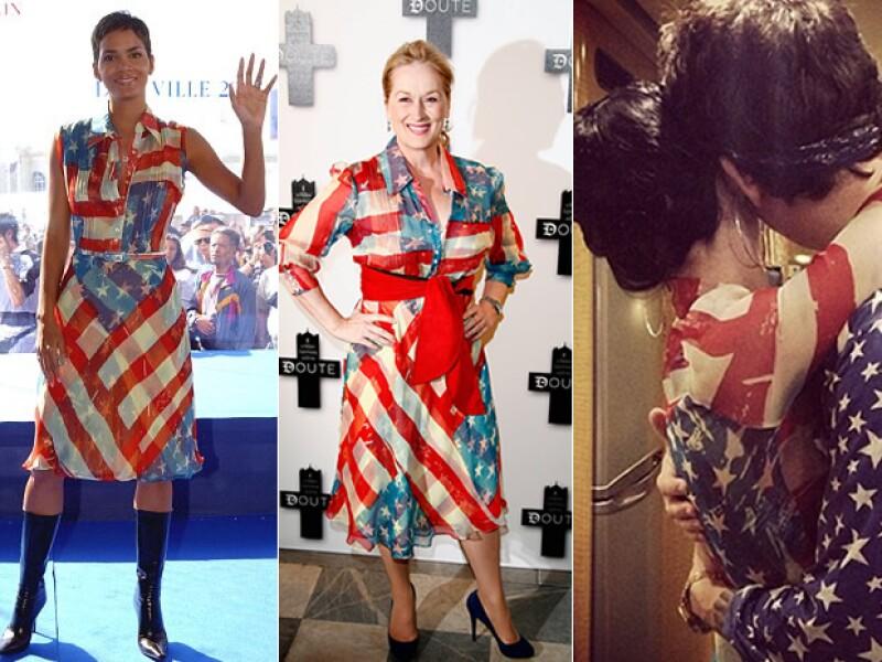 Este modelo también se lo hemos visto a Halle Berry, Katy Perry y a la misma Streep, en 2009.
