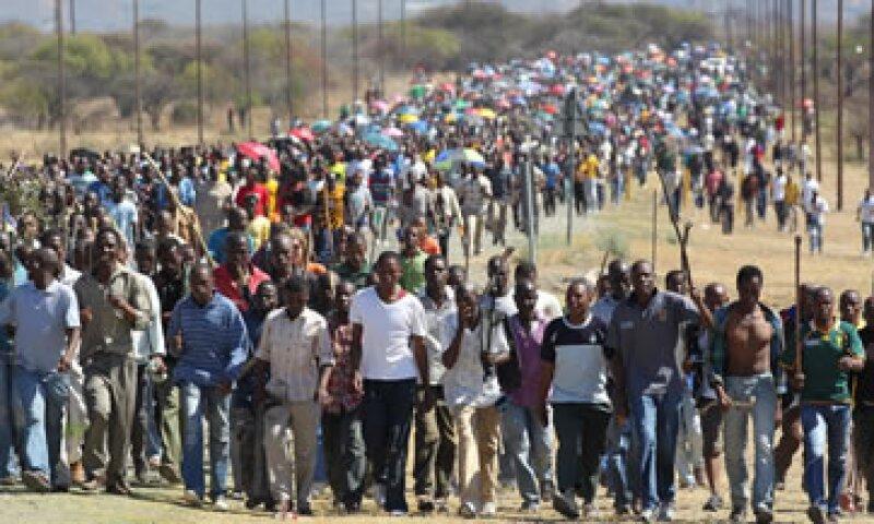 Los huelguistas amenazaron con matar a todo minero o gerente que no respete sus exigencias. (Foto: AP)