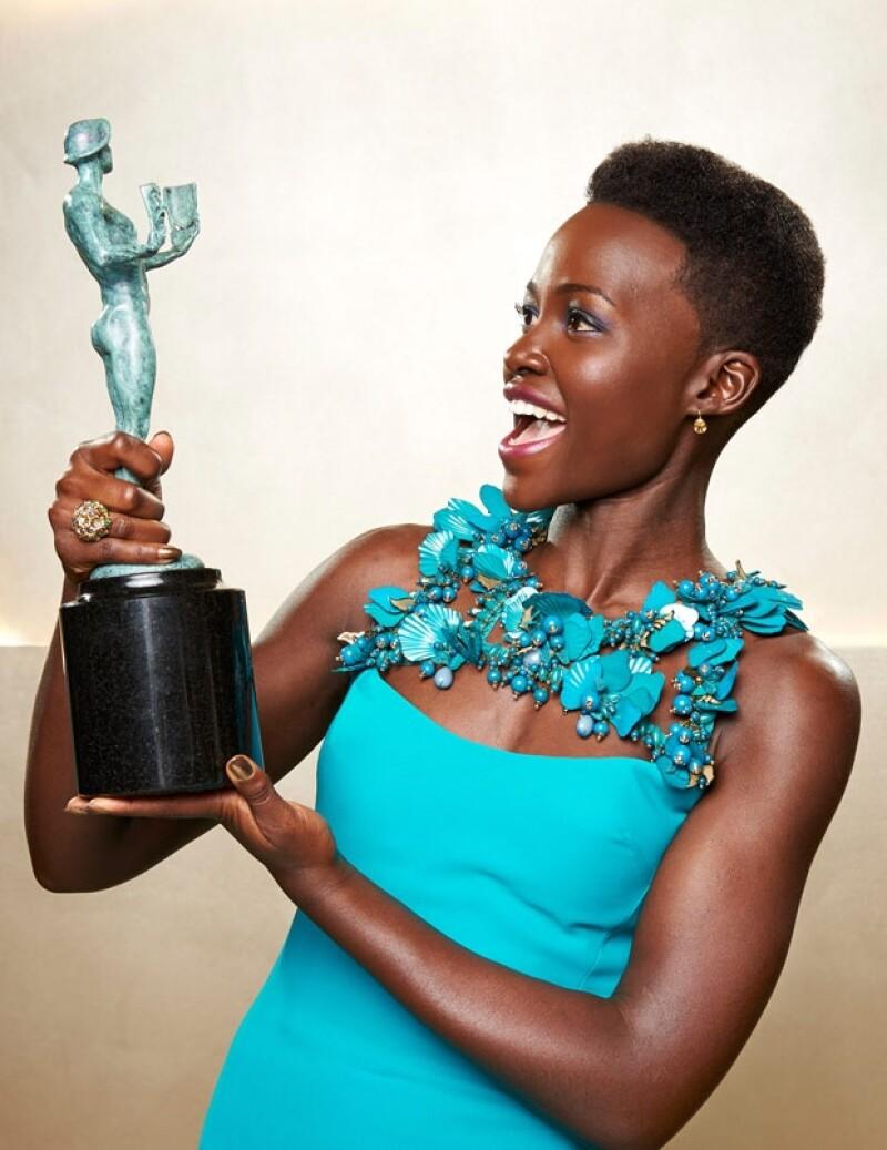 La actriz, de padres kenianos y nacida en México, interpretó a una esclava en la película 12 years a slave y se impuso a actrices como Jennifer Lawrence (nominada por American Hustle).