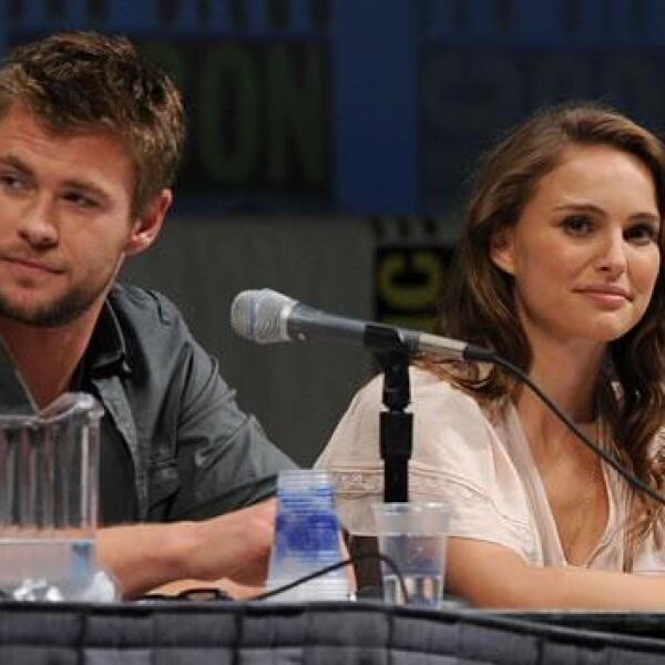Hemsworth y Portman hablan durante el Comic-Con