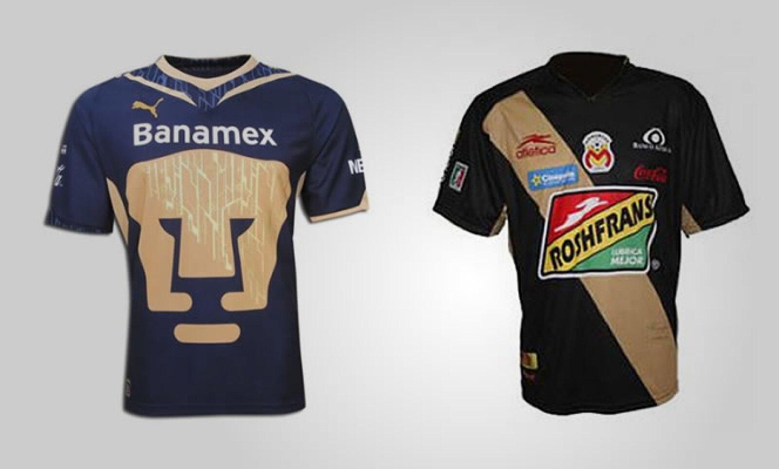 El uniforme de visitante de Pumas cuesta 854 pesos; por su parte, el de Monarcas tiene un costo de 199 pesos.