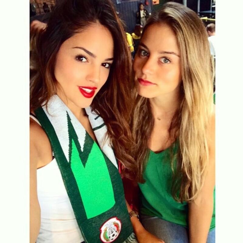 La actriz expresó su respaldo a la Selección Mexicana con esta imagen en su cuenta de Instagram.