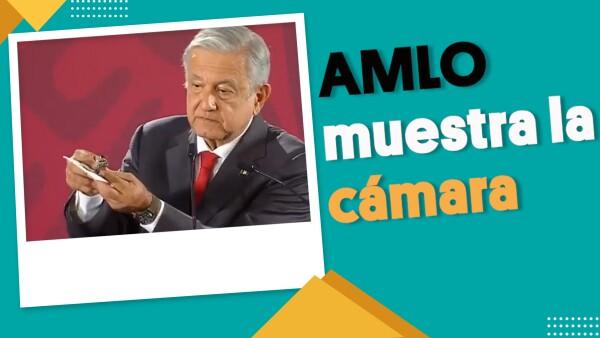 AMLO muestra la cámara con la que ¿lo espiaban? | #EnSegundos ⏩