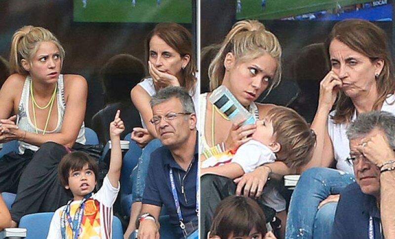 En esta ocasión, a Shakira no le tocó celebrar con Piqué.