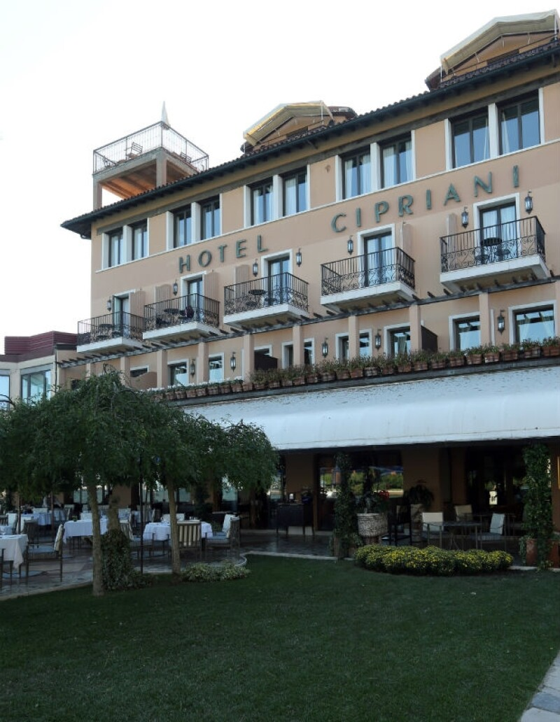 Vista del jardín del Hotel Cipriani, una de los más lujosos y clásicos de Venecia.