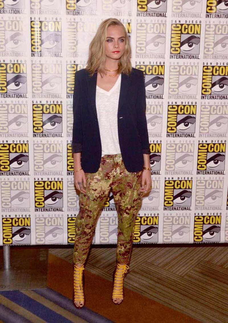 La actriz y modelo presumió su nuevo look en la Comic-Con.