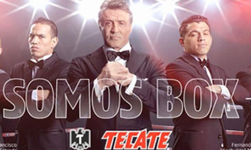 Sylvester Stallone será la nueva imagen de Tecate con el propósito de reforzar la asociación de la marca con el box. (Foto: Cortesía Tecate)
