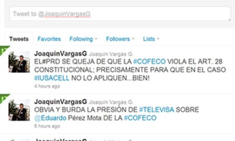 El presidente de MVS, Joaquín Vargas, acusó a Televisa de presionar al presidente de la CFC. (Foto: Especial)