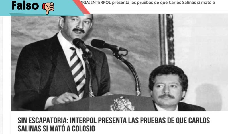 Falso que Carlos Salinas