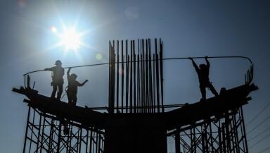 construcción trabajadores