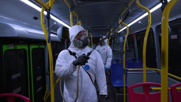 Sanitización de Autobuses RTP