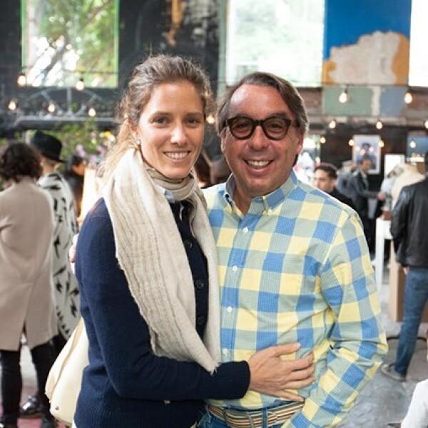 Sharon Fastlicht y Emilio Azcárraga Jean