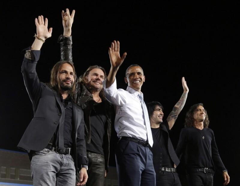 El cuarteto ha tenido una estrecha relación con Barack Obama.