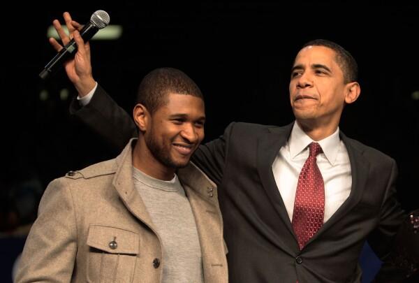 Obama y Usher
