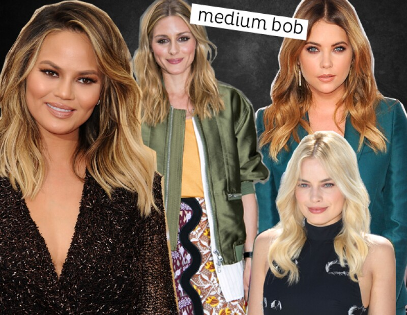 Chrissy Teigen, Olivia Palermo, Ashley Benson y Margot Robbie saben lucir el estilo a la perfección con un medium bob.
