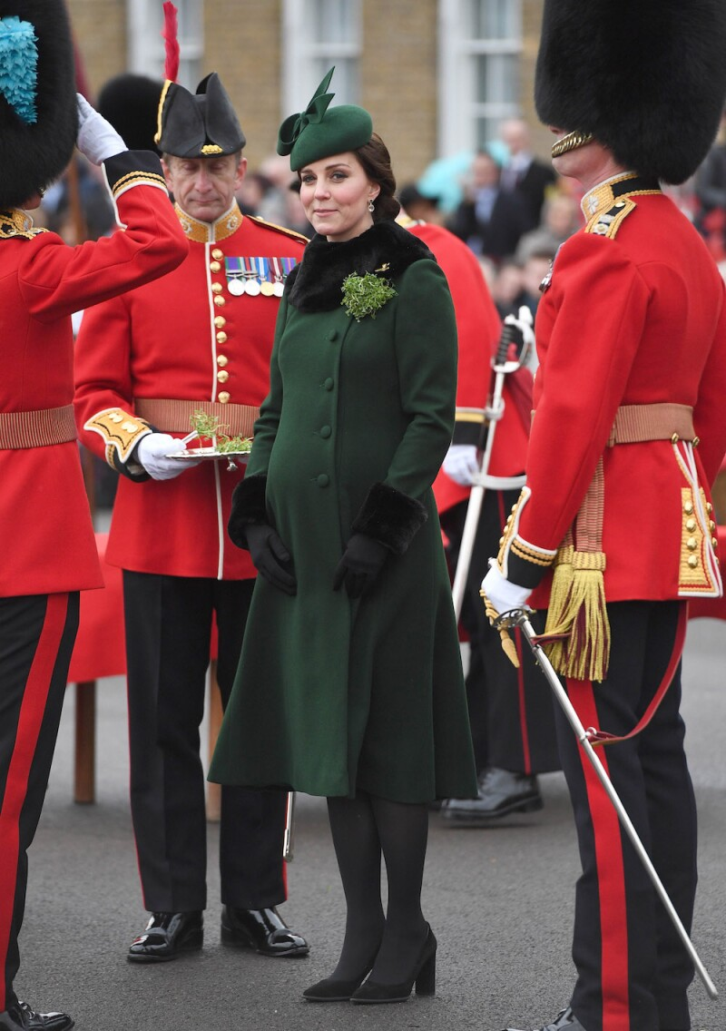 The Duke And Duchess Of Cambridge Attend The Irish Guards St Patrick's Day Parade