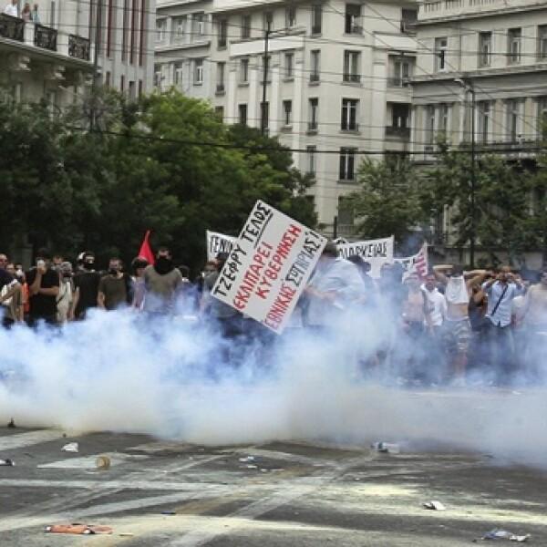 manifestacion en grecia