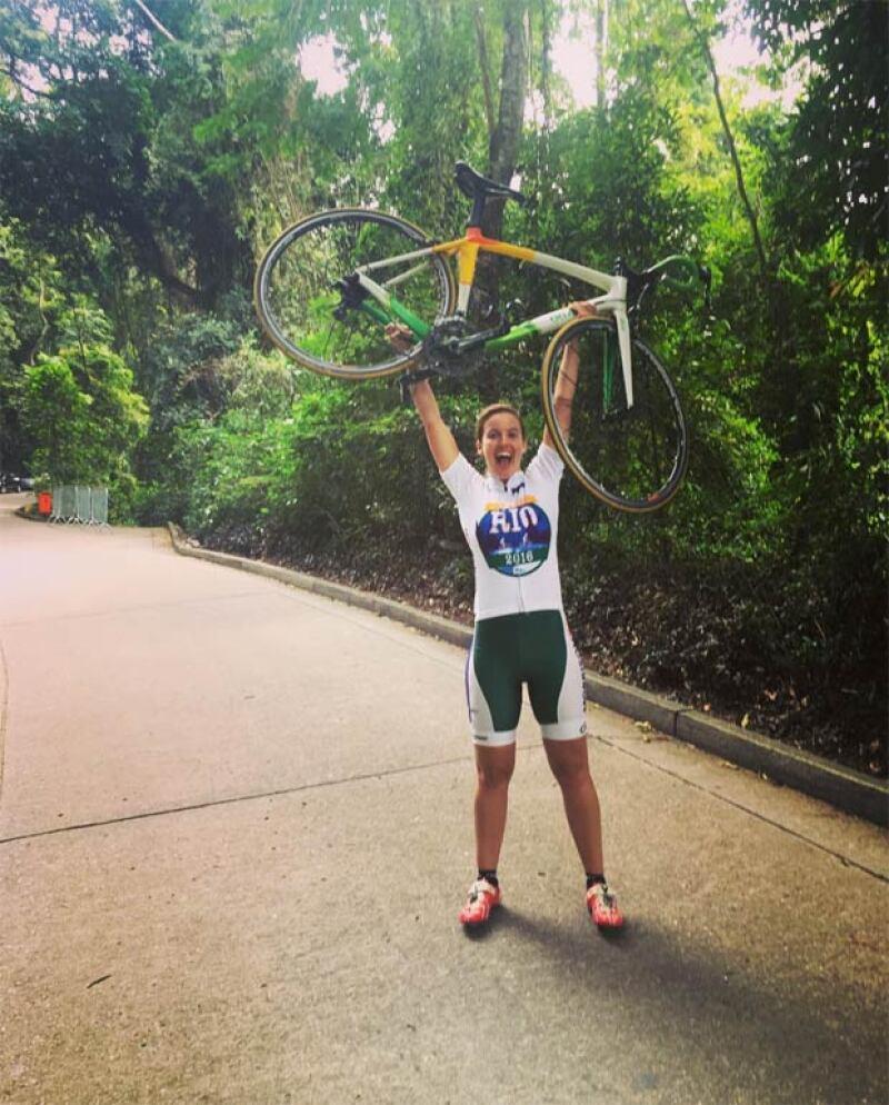 Con esta foto celebró haber fnalizado el reto #RideToRio.