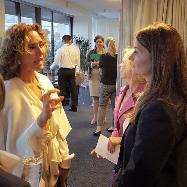 Angélica estuvo con Melinda Gates, esposa de Bill Gates, en Washington para discutir nuevos objetivos para empoderar a la mujer.